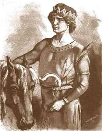 Freyr with Horse
