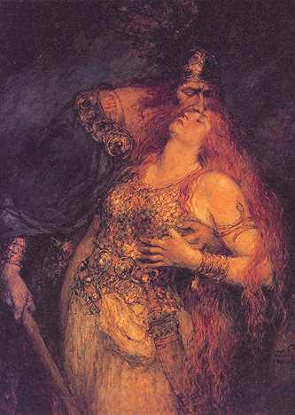 Wotan makes His daughter mortal.